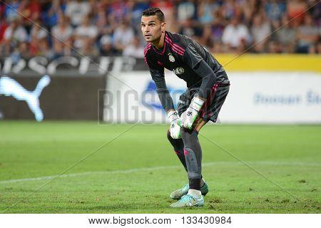 PLZEN 05/AUG/2015 _ Juan Pablo. 2.match of 3.preliminiary round of UEFA Champions League 2015/16 FC Viktoria Plzen vs. Maccabi Tel-Aviv.