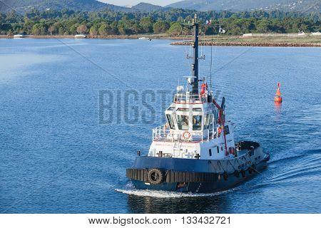 Persevero Tug 40T. Industrial Boat, Corsica