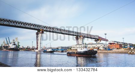 Construction Of The Viaduct Over Big Sea Canal