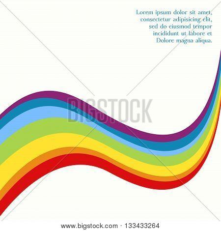 Rainbow colorful harmony card. Rainbow symbol. Festive design element. Vector illustration.