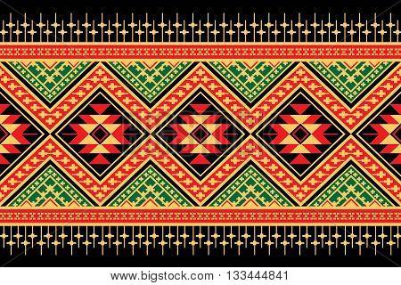 Ethnic pattern. Geometric pattern. Ethnic background pattern, Ethnic wallpaper pattern, Ethnic clothing pattern,Geometric Ethnic pattern design for background or wallpaper.