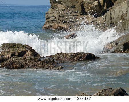 Crashing Wave On The Rocks