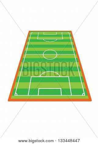 soccer field stadium - sport ground illustration
