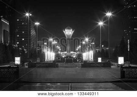 Evening In Astana City, Kazakhstan, Central Asia