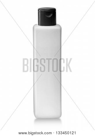 White tubular bottle isolated on white background with clipping path