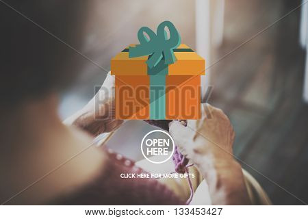Present Gift Giftbox Holiday Icon Concept
