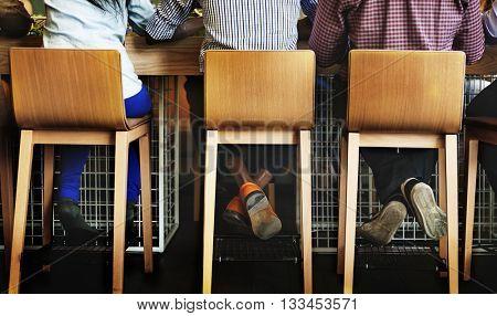 Bar Counter Casual Cheerful Customer Interior Concept