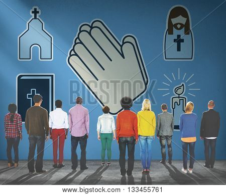 Christianity Worship Pray Religion Cross Concept