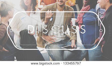 Discuss Discussion Talking Conversation Concept