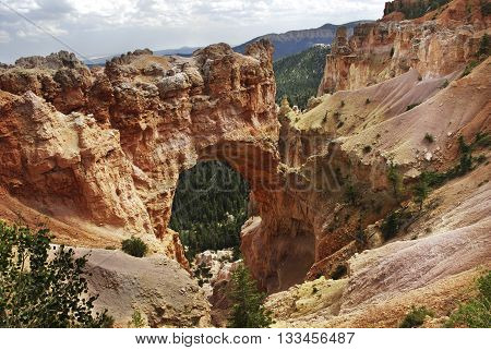 A natural arch in Bryce Canyon National Park Utah United States.