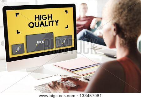 High Quality Display Digital Technology Monitor Concept