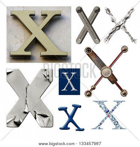 Collection alphabet. Letter X