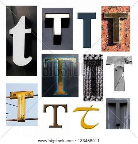 Collection alphabet. Letter T