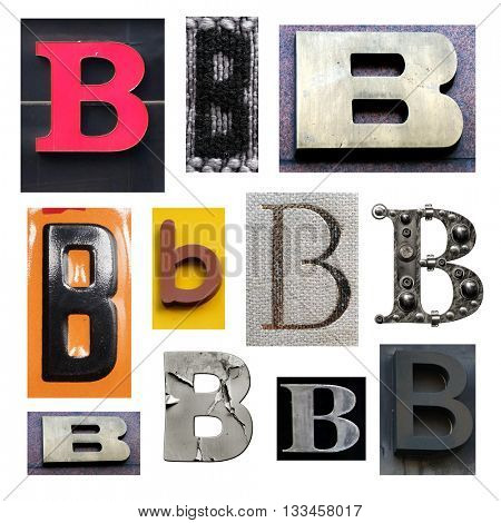 Collection alphabet. Letter B