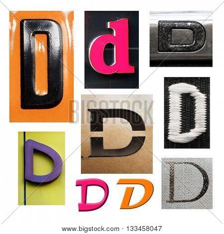 Collection alphabet. Letter D