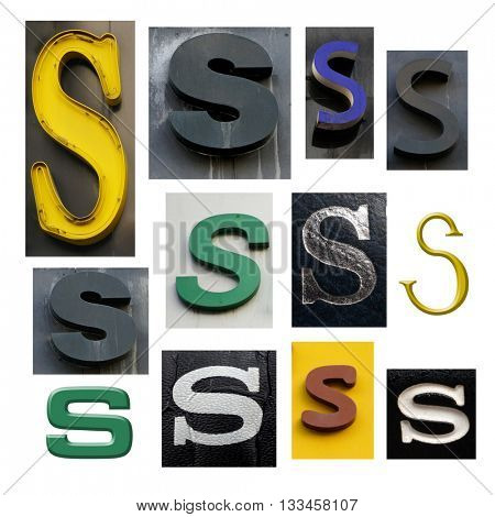 Collection alphabet. Letter S