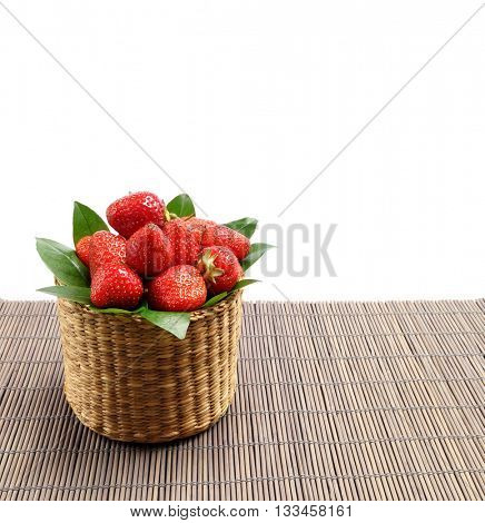 Basket with strawberries. Strawberries in a basket.