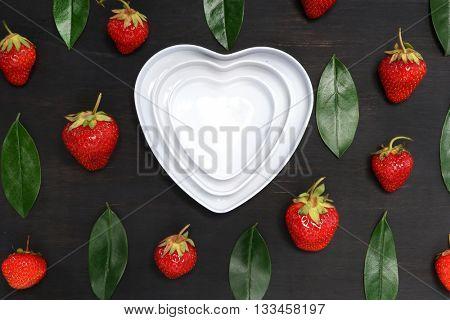 Strawberries. Creative