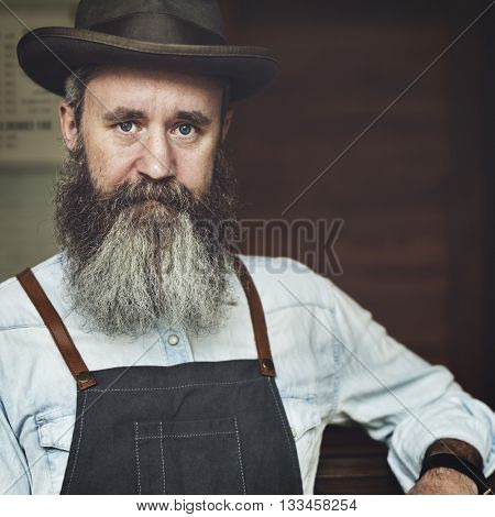 Hipster Senior Man Hipster Trendy Concept