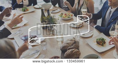 Business Gathering Meeting Frame Graphic Concept