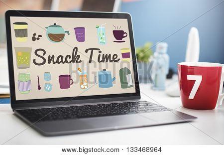 Snack Time Chip Cracker Crisps Crunchy Fried Concept