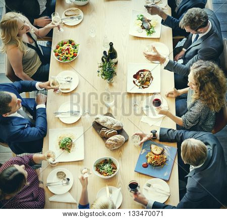 Business People Lunch Celebration Together Corporate Concept