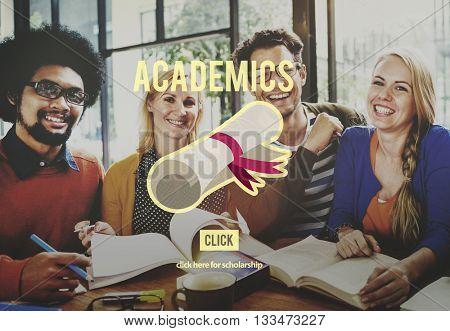 Academics School Education Collage Concept