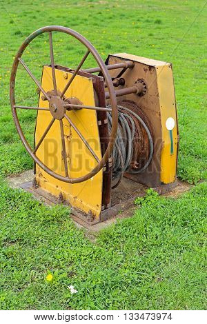 Winch For Pulling With Steel Wire Cable