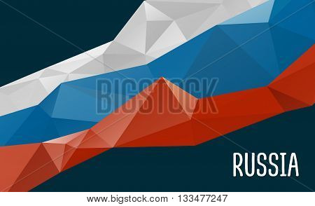 Stylized background Russia flag, official colors. National Russia flag. Russia flag vector. Russia flag drawing EPS.
