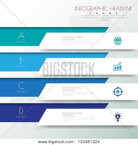 Design Flat Shadow Template Banners /graphic Or Website .vector/illustration.