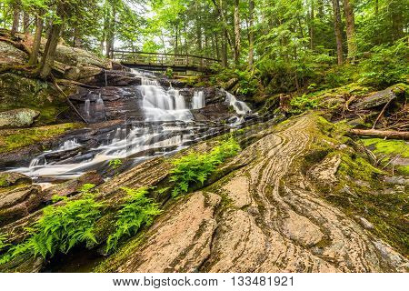 Little High Falls are located in Bracebridge Ontario Canada