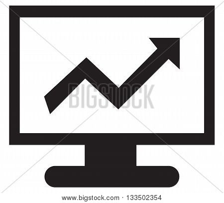 computer icon symbol set arrow symbol investment growth progress savings