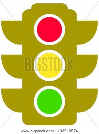 traffic light stoplight symbol control vector green color direction