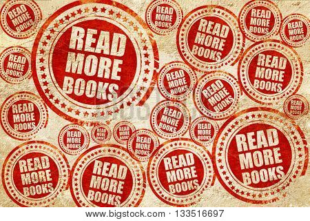 read more books, red stamp on a grunge paper texture