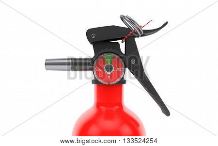 Fire extinguisher isolated on white background. 3d rendering