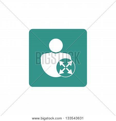 User Diagonal Icon In Vector Format. Premium Quality User Diagonal Symbol. Web Graphic User Diagonal