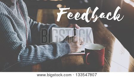 Feedback Advice Analysis Evaluate Review Survey Concept