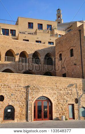 Building in residential quarter in old Jaffa. Israel.