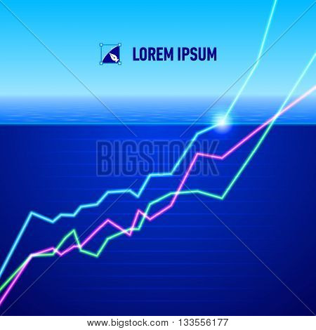 Equity market charts turn positive concept image