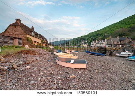 Porlock Weir a village on the Somerset coast