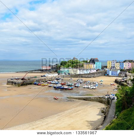 The Harbour At Tenby In Wales