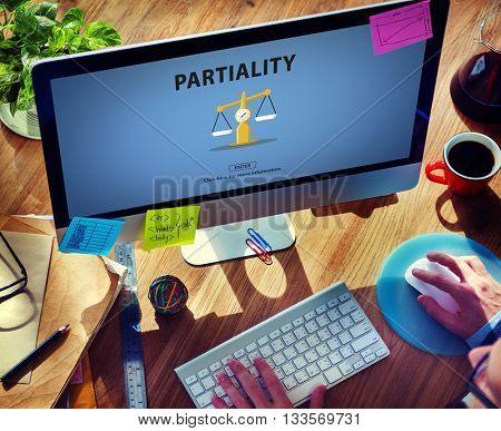 Partiality Prejudice Unfairness Help Victims Bias Concept