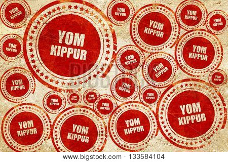 yom kippur, red stamp on a grunge paper texture