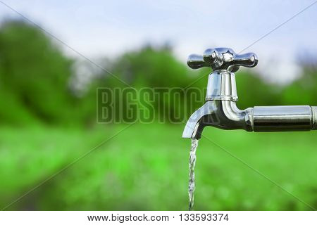 drain water from the tap Metal outdoors
