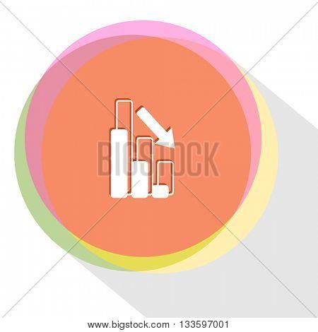 graph degress. Internet template. Vector icon.