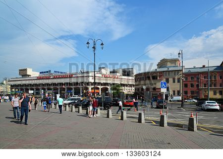 Moscow, Russia - June 06.2016. Komsomolskaya Square and views of the Moskovsky store