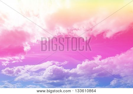 cloud background pastel gradient colors - yellow pink blue purple