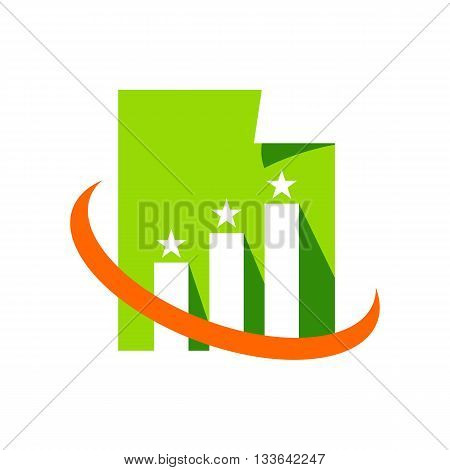 Design business finance logo icon symbol  vector