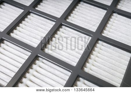 High efficiency air HEPA filter. Closeup view.