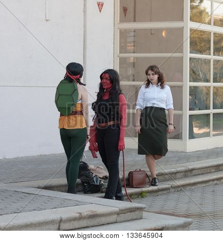 Group Of Cosplayers Dressed As Characters From Movie
